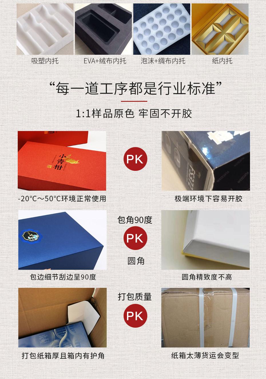 礼品纸盒定做内托款式及制作细节