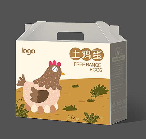 鸡蛋盒包装 设计图