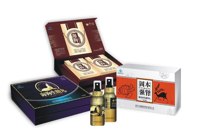 保健食品包装礼盒 盒型图